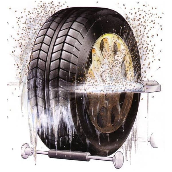 Гранулы для мойки колес